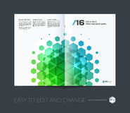 Abstract annual report, business vector template. Brochure desig. N, cover modern layout, flyer in A4 with colourful geometric shapes for tech, science, finance vector illustration