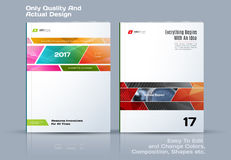 Abstract annual report, business vector template. Brochure desig. N, cover modern layout, flyer in A4 with colourful rectangles and diagonal shapes for tech vector illustration