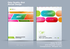 Abstract annual report, business vector template. Brochure desig. N, cover modern layout, flyer in A4 with colourful rectangles and diagonal shapes for tech royalty free illustration