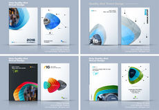 Abstract annual report, business vector template. Brochure desig. N, cover modern layout, flyer in A4 with colourful soft shapes for holiday, festival, party royalty free illustration