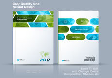 Abstract annual report, business vector template. Brochure desig. N, cover modern layout, flyer in A4 with green rectangles and diagonal shapes for tech, science vector illustration