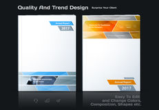 Abstract annual report, business vector template. Brochure desig. N, cover modern layout, flyer in A4 with grey rectangles and diagonal shapes for tech, science stock illustration
