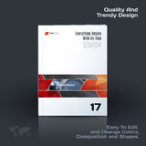 Abstract annual report, business vector template. Brochure desig. N, cover modern layout, flyer in A4 with red rectangles and diagonal shapes for tech, science vector illustration