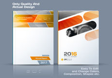 Abstract annual report, business vector template. Brochure desig. N, cover modern layout, flyer in A4 with yellow rectangles and diagonal shapes for tech royalty free illustration