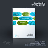 Abstract annual report, business vector template. Brochure desig. N, cover modern layout, poster, flyer in A4 with green rounded rectangles for tech, science royalty free illustration