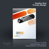 Abstract annual report, business vector template. Brochure desig. N, cover modern layout, poster, flyer in A4 with orange rounded rectangles for tech, science stock illustration