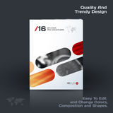 Abstract annual report, business vector template. Brochure desig. N, cover modern layout, poster, flyer in A4 with red rounded rectangles for tech, science royalty free illustration