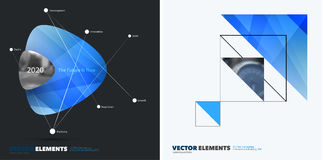 Abstract annual report, business vector template. Brochure design, cover. Abstract vector design elements for graphic layout. Modern business background template Royalty Free Stock Images