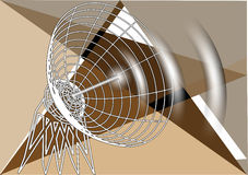 Abstract antenna Royalty Free Stock Photos