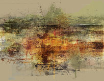 Abstract antique background. An abstract background with antique or grunge textures and colors royalty free illustration