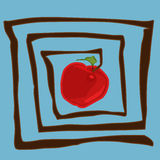 Abstract apple. Abstract illustration of apple inside labyrinth royalty free illustration