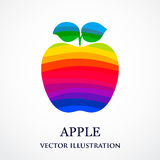Abstract apple consisted of rainbow ribbons Stock Photos
