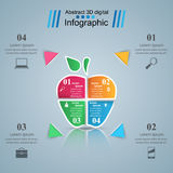 Abstract apple digital illustration Infographic. Business Infographics origami style Vector illustration. Fresh, apple icon Royalty Free Illustration