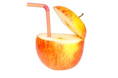Abstract apple drin Stock Photography