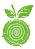 Abstract apple green. Apple green vitamine food sheet fruit royalty free illustration