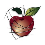 Abstract apple illustration. On white background royalty free illustration