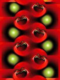 Abstract apple pattern. Red and green abstract apple pattern Royalty Free Stock Images