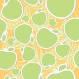 Abstract apple seamless background Stock Photo