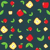 Abstract apple seamless pattern. Abstract red apple seamless pattern. Vector illustration vector illustration