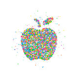 Abstract apple splash. Of colored circles. Vector illustration Royalty Free Stock Photo