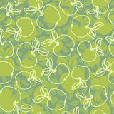 Abstract apples with leaves seamless background Royalty Free Stock Photo