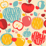 Abstract Apples Seamless Pattern. Seamless pattern with stylized apples Royalty Free Stock Photo