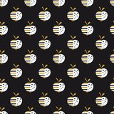 Abstract apples seamless pattern. For wrapping paper, scrapbook paper, wallpaper stock illustration