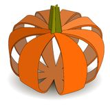 Abstract applique pumpkin on Halloween.  (Eps10 Ve Royalty Free Stock Photos