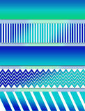 Abstract Aqua Blues Illustration in Layers Stock Photography