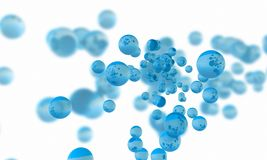 Abstract aqua concept. Blue liquid on white background. Fluid st. Blue liquid on white background. Abstract aqua concept. Fluid style. 3d rendering. Digital Royalty Free Stock Photo