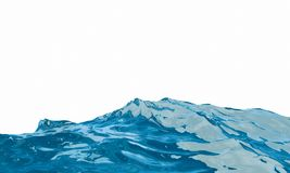 Abstract aqua concept. Blue liquid on white background. Fluid st. Blue liquid on white background. Abstract aqua concept. Fluid style. 3d rendering. Digital Stock Image