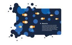 Abstract aqua design Royalty Free Stock Photos