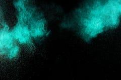 Abstract aquamarine  paint  Holi. Stock Photo