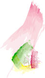 Abstract aquarelle floral illustration. Isolated over white stock illustration