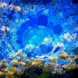 Abstract aquatic background. Abstract mosaic underwater ocean theme Stock Image