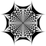 Abstract Arabesque Fountain Fan Spider Net Design. Black on transparent background stock illustration