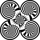 Abstract Arabesque-Slak Veelvoudig Perspectief royalty-vrije illustratie