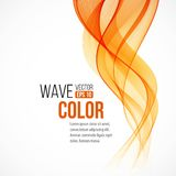 Abstract arange wave design element. Vector Royalty Free Stock Photography