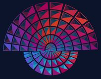 Abstract arc. Abstract vector pattern of squares forming an arc Royalty Free Stock Photo
