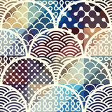 Abstract arc pattern. Seamless background pattern. Abstract diagonal geometric pattern with arc elements Royalty Free Stock Images