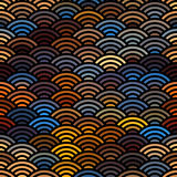 Abstract arc pattern. Seamless background pattern. Abstract diagonal geometric pattern with arc elements Stock Photo