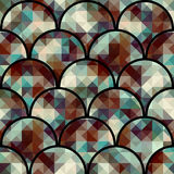 Abstract arc pattern. Seamless background pattern. Abstract geometric pattern with arc elements Stock Image