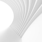 Abstract Arch Interior. Minimal White Background. Creative Engineering Concept royalty free illustration