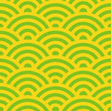Abstract arched pattern - seamless background - citrus texture. Abstract arched pattern - seamless background - citrus color Stock Image