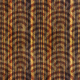 Abstract arched pattern - seamless background - Ebony wood Stock Images