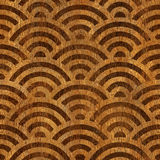 Abstract arched pattern - seamless background - wooden texture Stock Photography