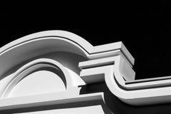 Abstract architecturaal detail van de voorgevel van een modern gebouw Royalty-vrije Stock Afbeelding