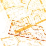 Abstract architectural background. Vector illustration royalty free illustration