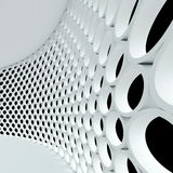 Abstract architectural background. 3d interior of modern building stock illustration