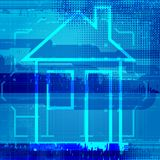 Abstract architectural background of blueprint home. Vector illustration Royalty Free Illustration